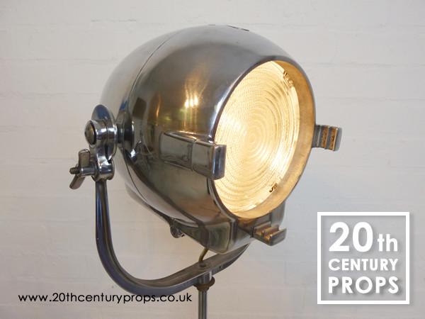 1: Chrome Industrial Floor Lamp