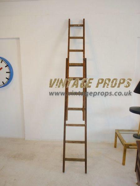 1: Vintage wooden ladders