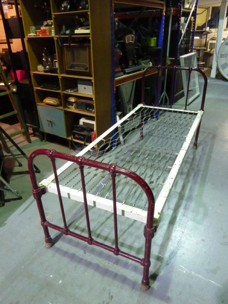 1: Vintage iron bed