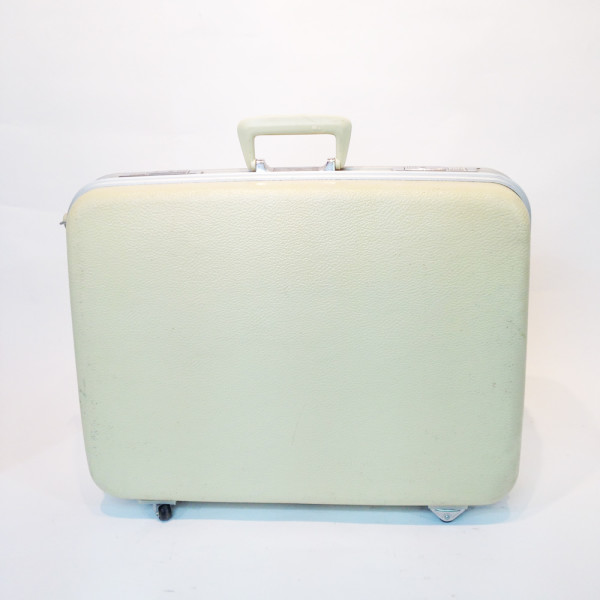 1: White Hard Shell Suitcase