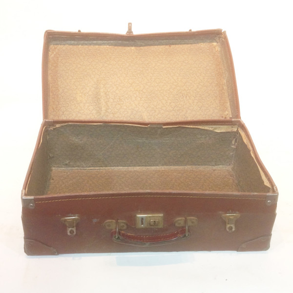 2: Brown Leather Suitcase 3