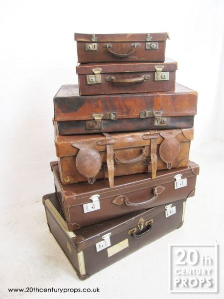 1: Vintage Leather Suitcases