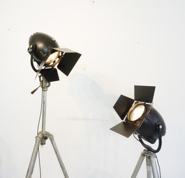 3: Vintage 'Strand Electric' Black Studio Spotlight