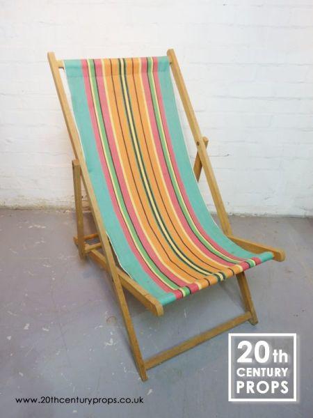 1: Vintage deckchair