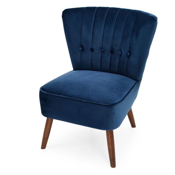 3: Velvet Cocktail Chair - Midnight Blue