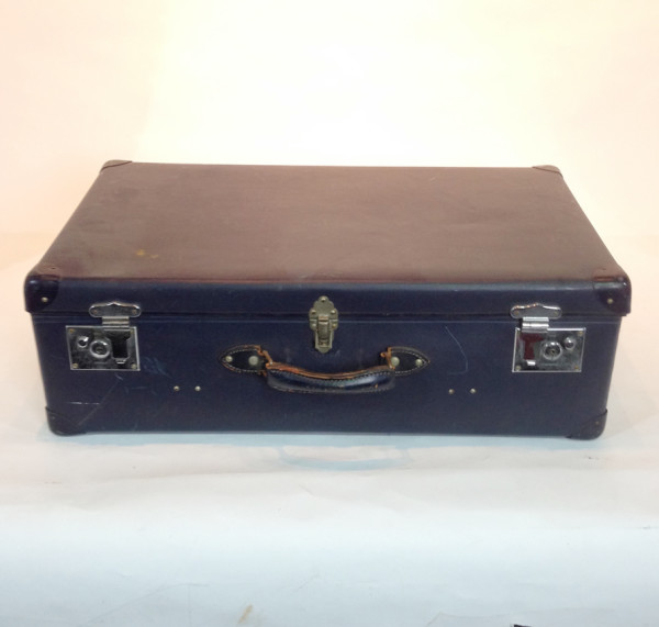 3: Large Dark Blue Travel Trunk