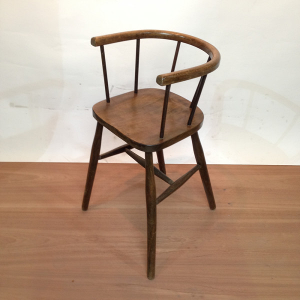 1: Child's Wooden Highchair