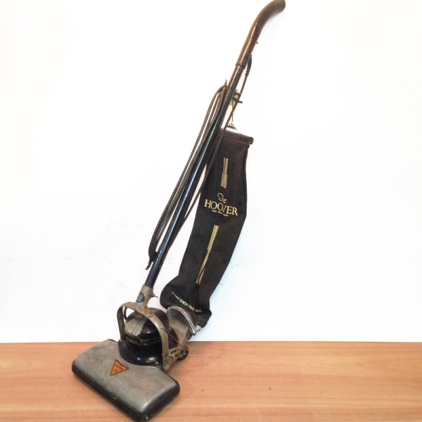 1: Black Vintage Hoover Vacuum Cleaner