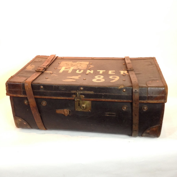 6: Large Grey Travel Trunk