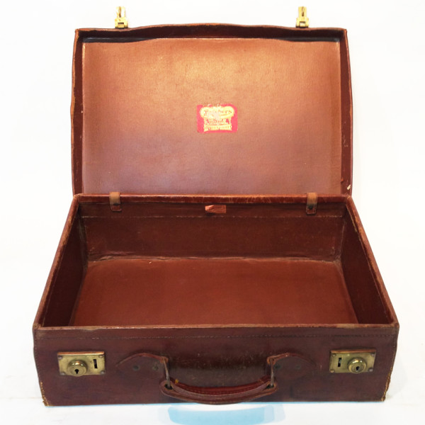 2: Brown Leather Suitcase 2