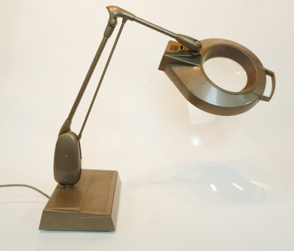 2: Brown Angle Poise Magnifying Desk Lamp