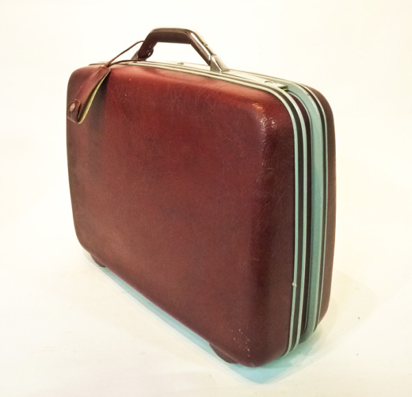 3: Dark Red Hard Shell Suitcase