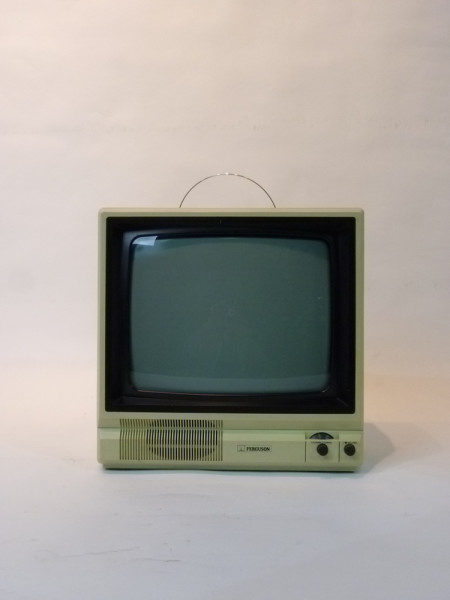2: White Portable 1990's TV