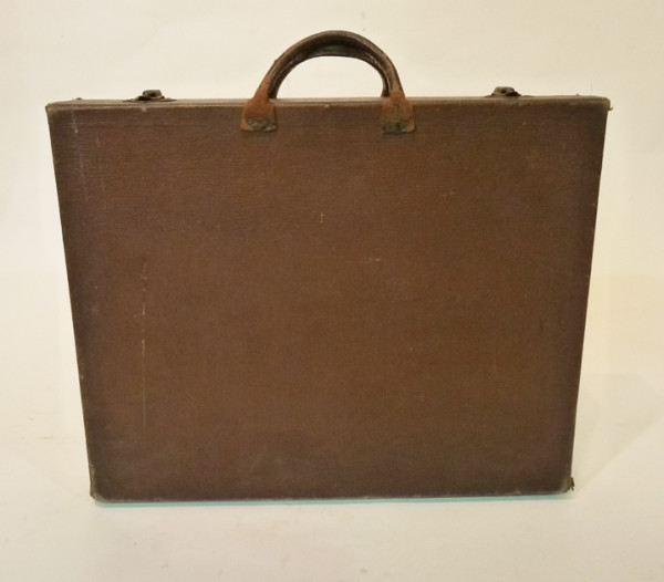 4: Thin Brown Leather Briefcase