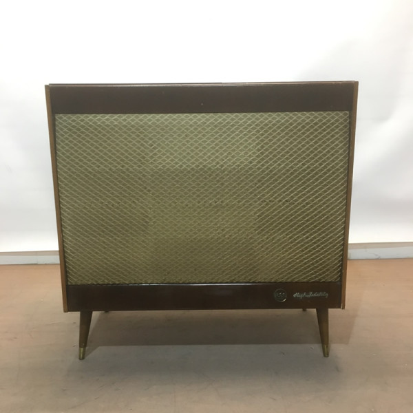 5: Vintage music cabinet with record player