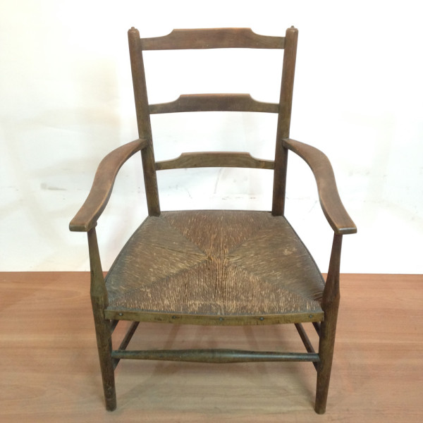 2: Vintage Wooden Armchair