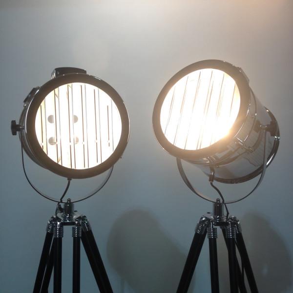 4: Vintage glamour polished chrome spotlight