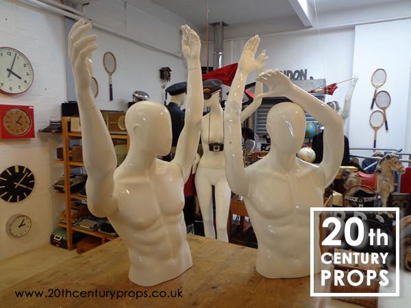 2: Male torso mannequins