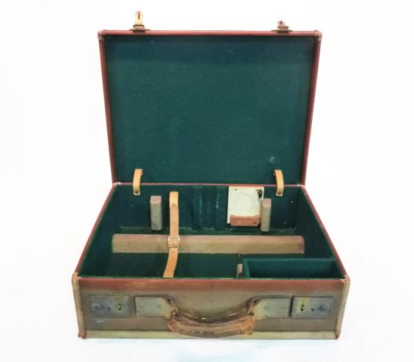 3: Brown Canvas Briefcase