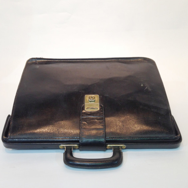 1: Black Leather Briefcase