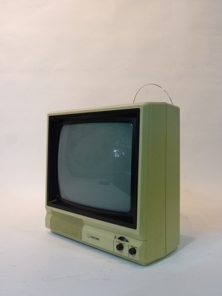 3: White Portable 1990's TV