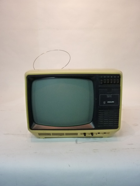 1: White 1980's Portable TV