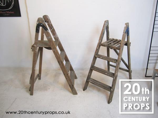 1: Vintage step ladders