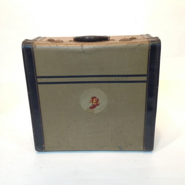 3: Small Patterned with Blue Trim Travel Case