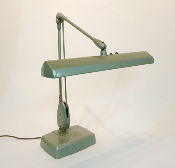 1: Industrial adjustable desk lamp