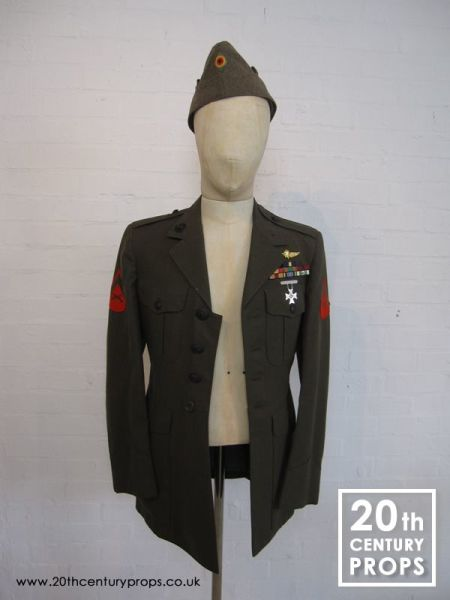 2: Vintage Army jacket and beret