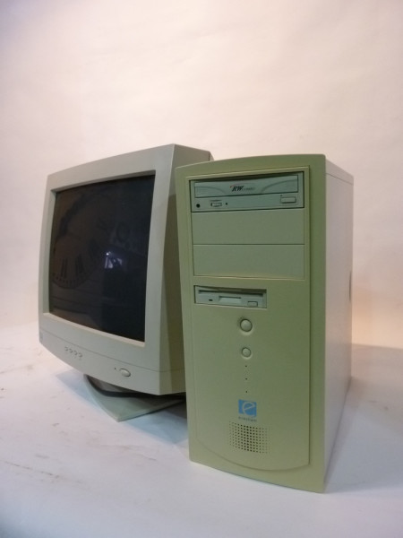 1: White Desktop Computer 1990's