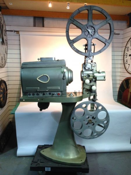 1: Large vintage cinema projector