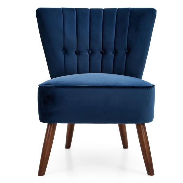 1: Velvet Cocktail Chair - Midnight Blue