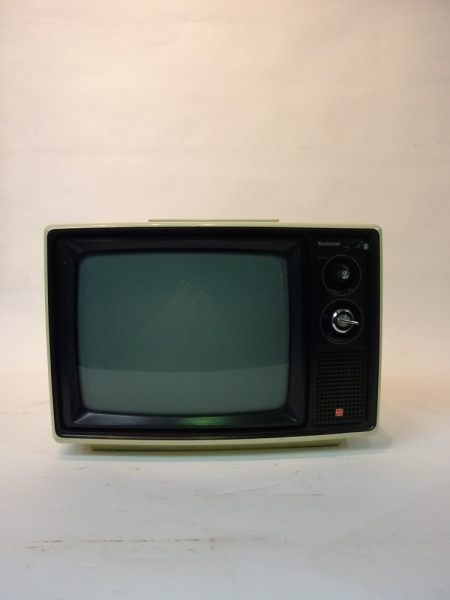 1: White Retro 1970's TV