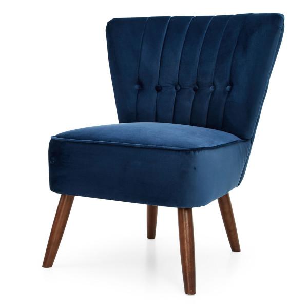 2: Velvet Cocktail Chair - Midnight Blue