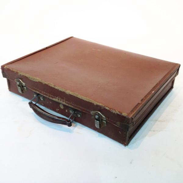 2: Brown Leather Slim Briefcase