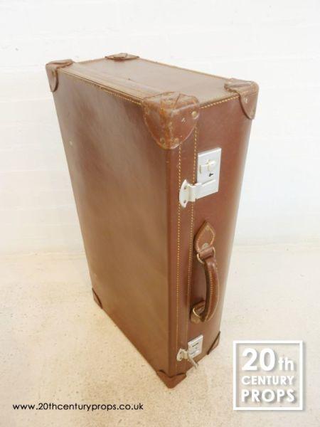 1: Leather Vintage Suitcase