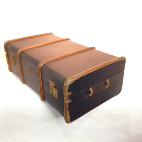 1: Long Dark Blue Travel Trunk
