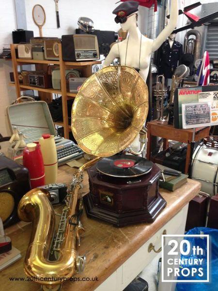 1: Vintage musical props