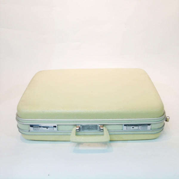 2: White Hard Shell Suitcase