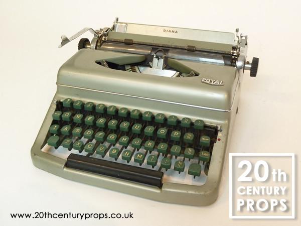 1: 1950's vintage ROYAL typewriter