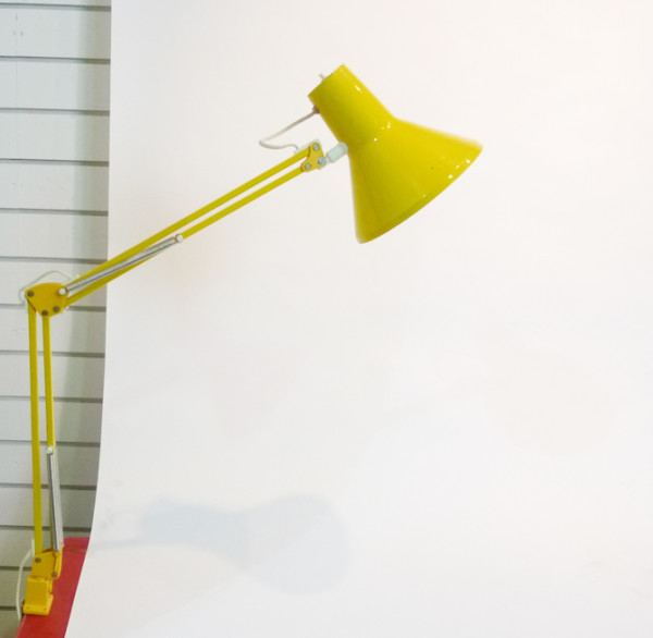 3: Yellow Angle Poise Clip On Desk Lamp