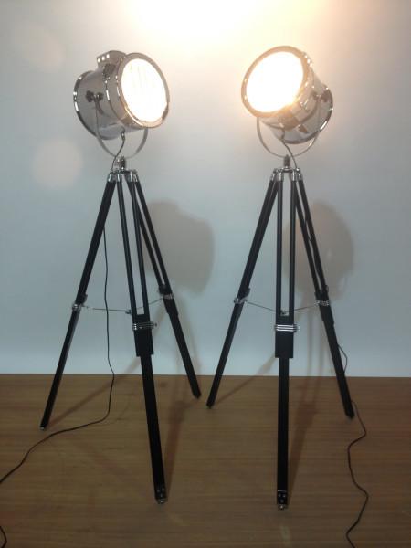 1: Vintage glamour polished chrome spotlight
