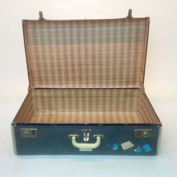 5: Large Navy Suitcase