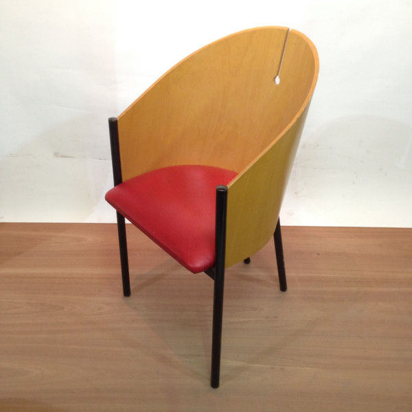 1: Curved Back Italian Style Lounge Chair