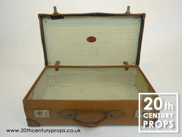 2: Vintage Leather Suitcases