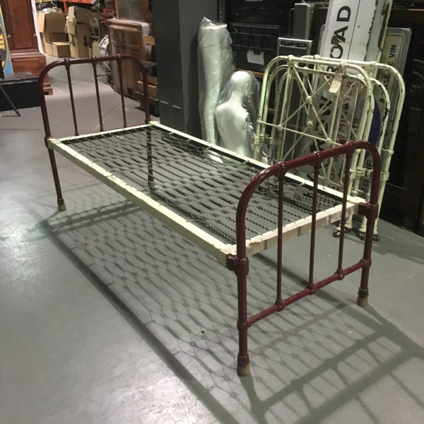 3: Vintage iron bed