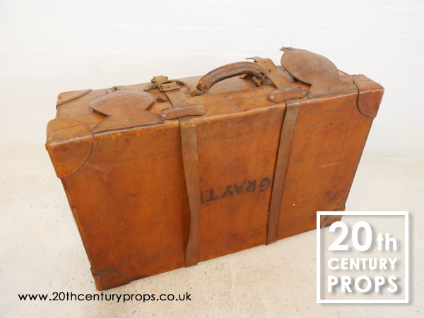 1: Leather Vintage Suitcase