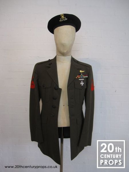 1: Vintage Army jacket and beret