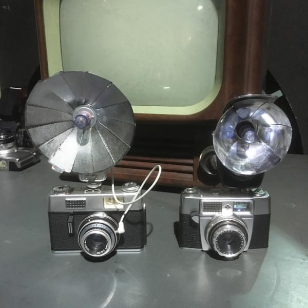 2: Vintage cameras with flash units
